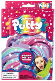 Unicorn Putty Glitter Slime Kit Pink Purple
