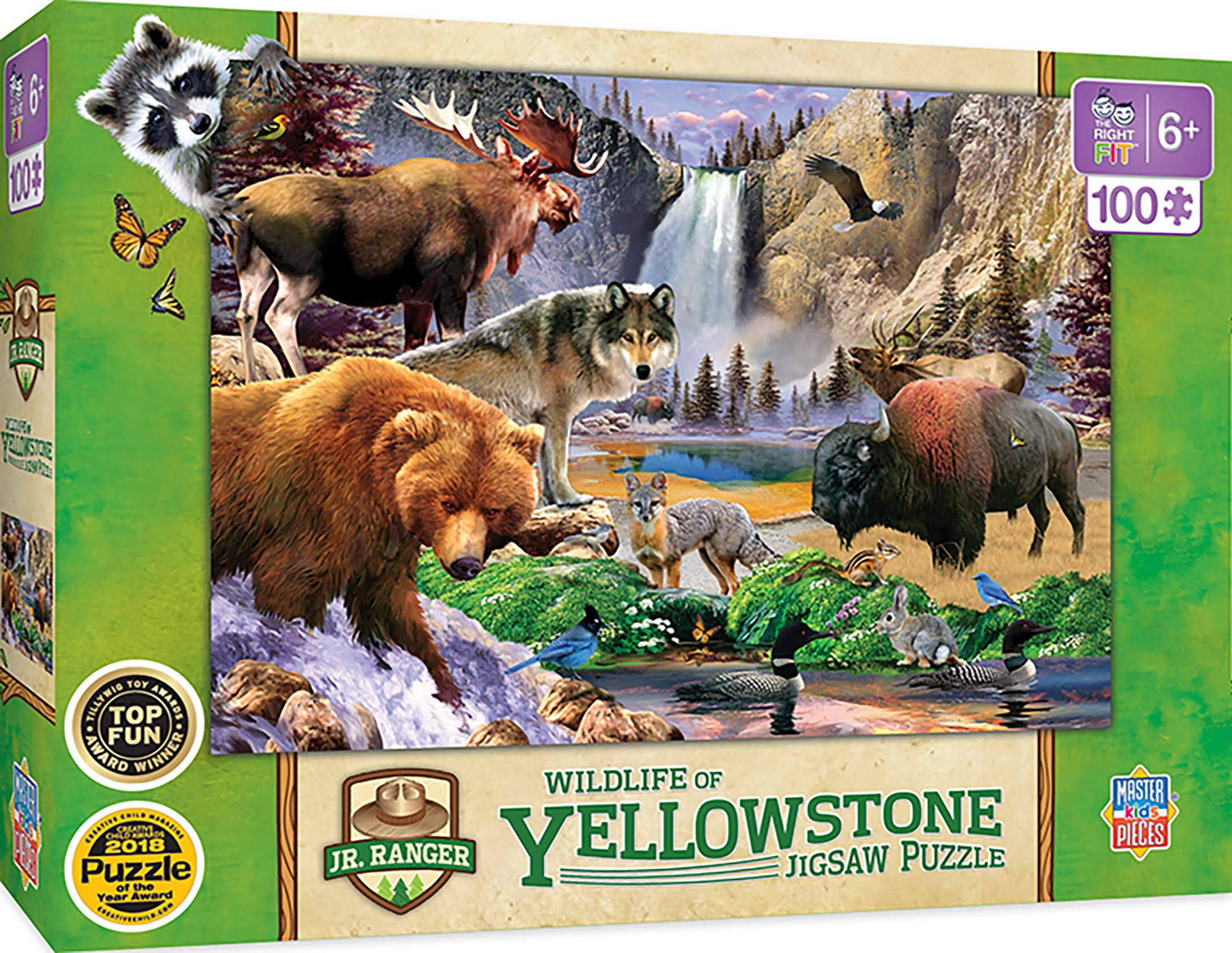 Masterpieces Jr Ranger - Yellowstone National Park 100pc Puzzle