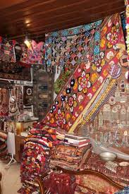 A Traditional Turkish Carpet Shop In Fethiye Turkey Stock Photo