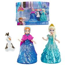 Disney Frozen Glitter Glider Anna Elsa And Olaf Doll Set Walmartcom