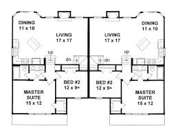 Small Duplex Floor Plans by Plan 2080 Bi Level Duplex Small Or Narrow Lot