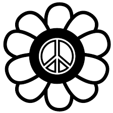 Pin Peace Sign Clipart Colouring Page 7