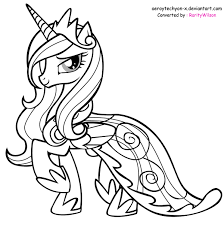 Printable My Little Pony Coloring Pages Mlp Princess Cadence Free Online