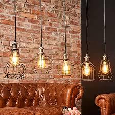 lindby pendelleuchte alberta vintage industriell in schwarz aus metall ua für wohnzimmer esszimmer 5 flammig e27 a deckenle