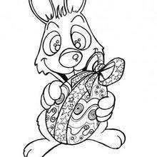 Flying Bunny Happy Rabbit With Chocolate Egg