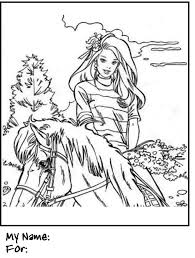 Barbie Coloring Pages Horse Riding SearchBulldog