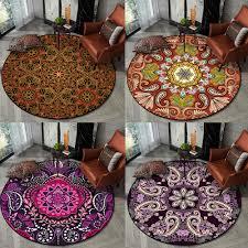 bohemian ethnischen runde teppiche schlafzimmer floral mandala wohnzimmer teppich wandteppich anti skid badezimmer boden teppich kinder zimmer stuhl
