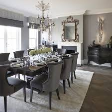 Elegant Dining Room With Statement Chandelier And Mirror Diningroom Luxuryhome Luxuryinteriors Fireplace Homedecor Houzz