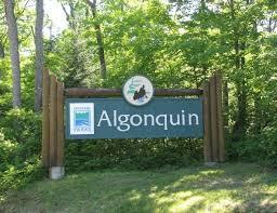 Algonquin Provincial Park Historical Marker