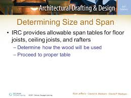 Floor Joist Span Table For Sheds by Sizing Joists And Rafters Using Span Tables Ppt Video Online