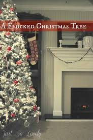 Snow Flocked Slim Christmas Tree by Just So Lovely A Flocked Christmas Tree
