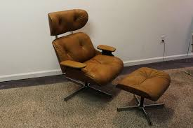 18. Frank Doerner Mid Century Modern Chair Ottoman Set Selig ... Selig Lounge Chair Re Caning Rocky Mountain Diner Home Select Modern Chair Extraordinary Eames And Ottoman Vitra Xl Lounge For Carlo Ghan Ca Swivel Migrant Resource Network Is My Vintage Real Olek Restoration Any Idea On The Maker Of This Replica Frank Doner Midcentury Modern Set Plycraft Style Refinished And Upholstered Vintage Fniture Sale