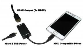 How to connect a smartphone or tablet to a screen via MHL Hexamob