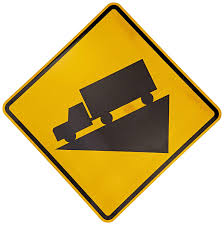 100 Truck Sign Tapco W71 High Intensity Prismatic Warning Legend Hill And