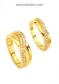 22K Gold His & Her Rings With Cz Indian Gold Rings