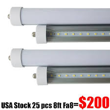 fluorescent light fixtures 8ft 8 ft single pin fa8 t8 led