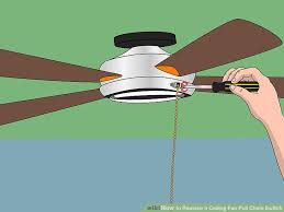 how to replace a ceiling fan pull chain switch with pictures
