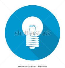 white vector light bulb on color stock vector 334812614