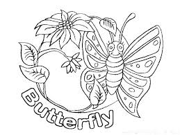 Butterfly Coloring Pages Free Monarch Page Simple