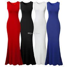 women u0027s elegant mermaid long evening party dress sleeveless