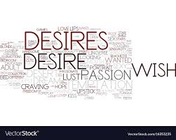 Desires Word Cloud Concept Vector Image
