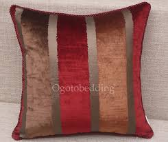 Red Decorative Pillows by Dark Red Striped Designer Luxury Decorative Pillows Ogzt082075