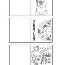 Snowman Gift Tags Coloring Pages