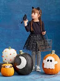 Carvable Foam Pumpkins Ideas by Decorate For Halloween With No Carve Pumpkins