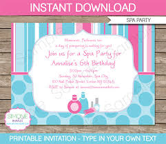 Free Pamper Party Invitation Templates Invite Template Orax
