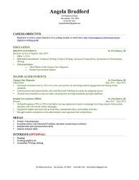 Sample College Resume With No Work Experience When You Have Your Education May Still Make A Desirable Candidate In The View Of