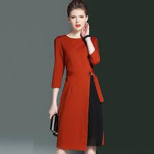 H Designer Trendy Women Autumn Dress Tunic 2017 New Arrival Slim Female Work OL
