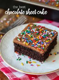 Chocolate Sheet Cake 1