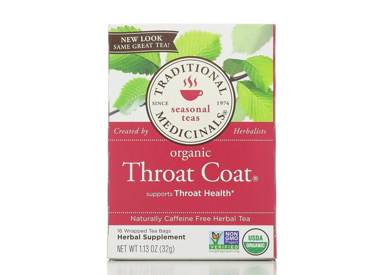 Traditional Medicinals Organic Throat Coat Tea - 16ct