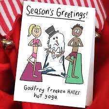 Hot Yoga Christmas Card For Teachers