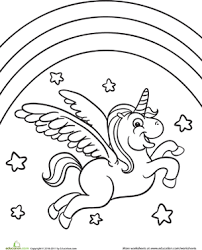 301x372 Unicorn Rainbow Coloring Pages
