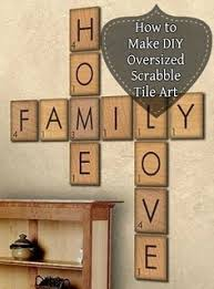 Scrabble Tile Values Wiki by How To Make Giant Scrabble Letters I Feel A Craft Coming On