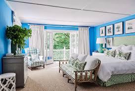 schlafzimmer in blau weiß und grün mit bild kaufen