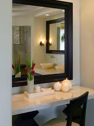 Makeup Desk With Lights by Bathroom Bathroom With Cream Floating Makeup Table With Mirror