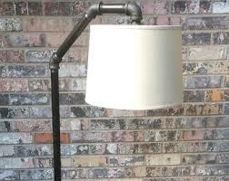 Industrial Floor Lamp W Side Table