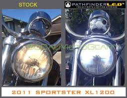 pathfinder h4 led headlight for harley and other motorcycles