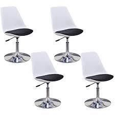 vidaxl 4x küchenstuhl höhenverstellbar drehbar esszimmerstuhl kunstlederstuhl