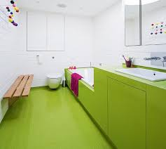 Green Rubber Floor In A Self Build Home