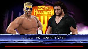 Wcw Halloween Havoc 1991 by Wwe 2k17 Sting Vs Undertaker Halloween Havoc Youtube