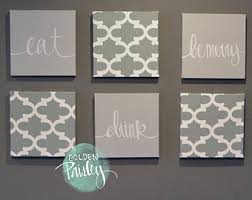 Canvas Wall Art For Dining Room by Black White Eat Drink U0026 Be Merry Wall Art 6 Pack Canvas Wall