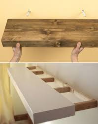 there are various methods for mounting floating shelves to the