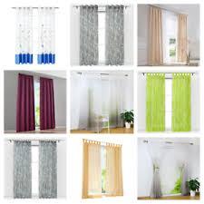 details zu gardinen modern vorhänge wohnzimmer kräuselband schlaufen ösen transparent