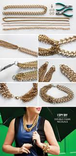 DIY Double Chain Necklace Tutorial