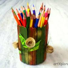 Ice Cream Sticks Stationery Holder Artxplorez Creativity Beyond Imagination
