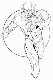 Free Printable Coloring Pages Kid Flash