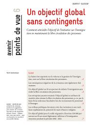 La Suisse Fera Davantage De Contrôles De Salaire Un Objectif Global Sans Contingents Avenir Suisse
